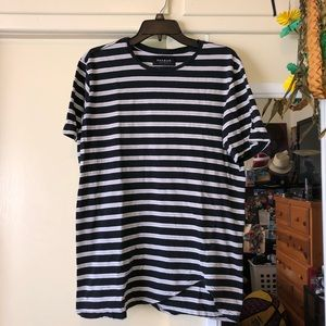 Pacsun striped shirt w/ scoop hem